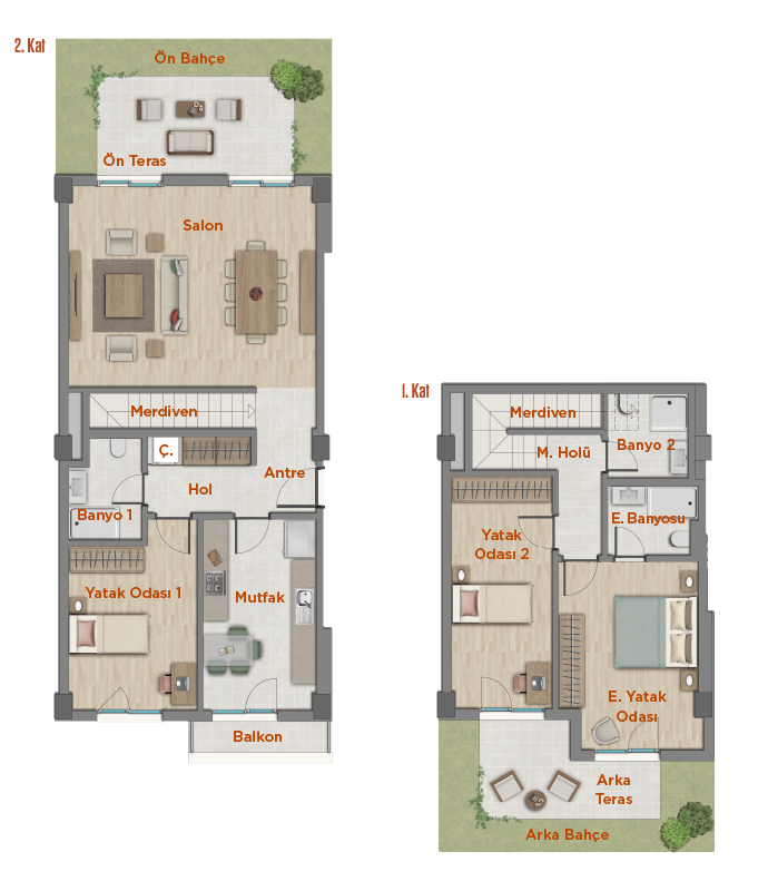 apartment plan 3+1 DUPLEX A
