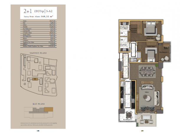 apartment plan 2+1 C