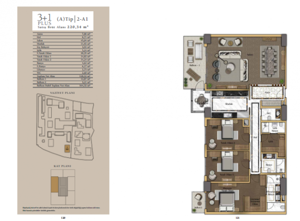 apartment plan 3+1 B