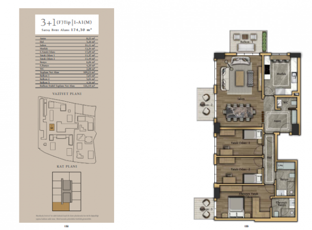apartment plan 3+1 E