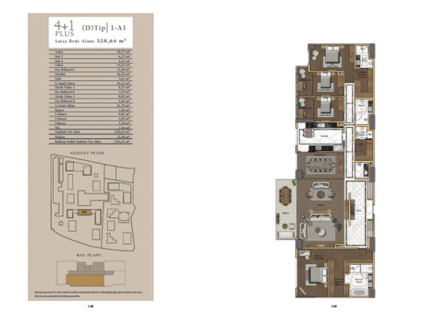 apartment plan 4+1 B