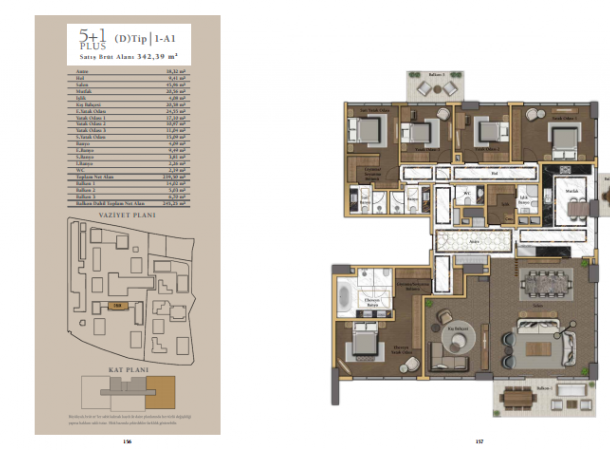 apartment plan 5+1 A